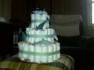 Stefanie's diaper cake side 2